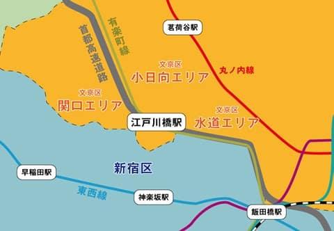 江戸川橋マップ