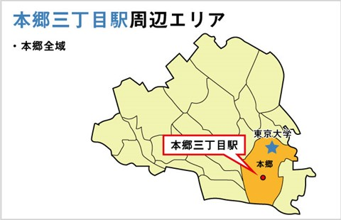 本郷三丁目駅周辺地図