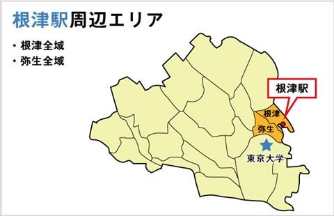 根津駅周辺地図